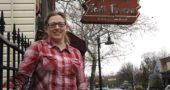 Ye Olde Trail Tavern changed hands last month. Christine Monroe-Beard, pictured here, and her husband Don Beard, co-owners of Peach's, have taken over the tavern run by Cathy Christian since 1986. The tavern is closed for renovations and will reopen in mid-March or early April. (Photo by Audrey Hackett)