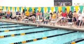 YSHS swimmer Olivia Chick launched off the starting blocks in the 200-yard freestyle at the Kenton Ridge Invitational on Jan. 21. Chick broke a personal record in the race and made a new school record in the process. Coach David Hardwick said that the shattering of personal records is characteristic of this year's swim team. (Submitted photo)