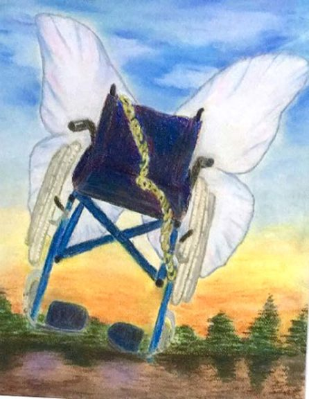 """Dichotomy — Chains and Wings,"" a pastel drawing by local artist Theresa Mayer, will be featured in a new exhibit, ""Try Another Way: Redefining Dis-abilities."" Showcasing works in various media by local artists living with disabilities, the exhibit will open with a reception at the YSAC Community Gallery on Friday, March 17, from 6 to 9 p.m., and will stay up through April 15. (Submitted photo)"