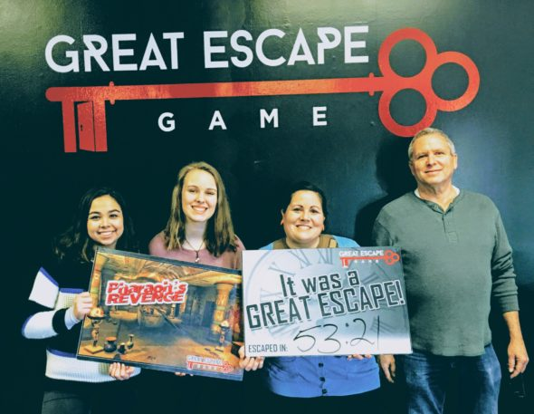 At the Great Escape Game in Beavercreek, (mostly) curse-free.