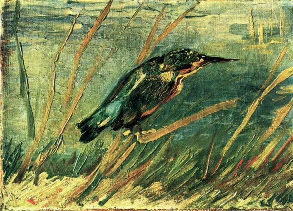"""""""The Kingfisher,"""" 1886, Van Gogh. (Via Wikiart)"""