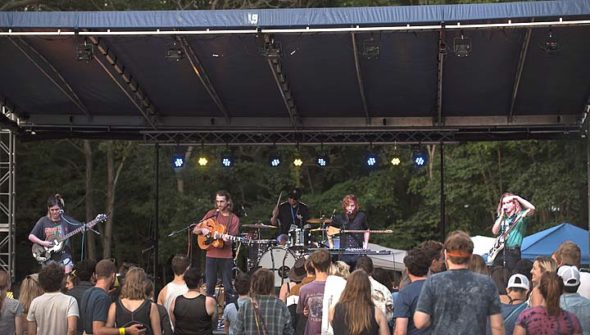 "Columbus indie-folk band Saint Seneca headlined last year's Springsfest, which is returning to the lawn of the Bryan Center on July 8. The festival boasts bands from across Ohio and the US, and will feature a selection of food trucks and beer from the YS Brewery. The festival is organized by Yellow Springs native Connor Stratton, who said the selection of artists will make for a ""dance-your-butt-off kind of vibe."" (Submitted Photo)"