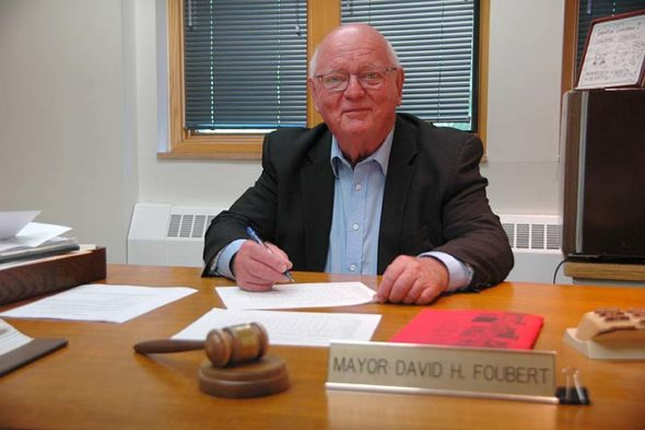 Yellow Springs Mayor Dave Foubert has announced that after 13 consecutive terms in office, he has decided not to run for re-election in the fall. (Photo by Carol Simmons)