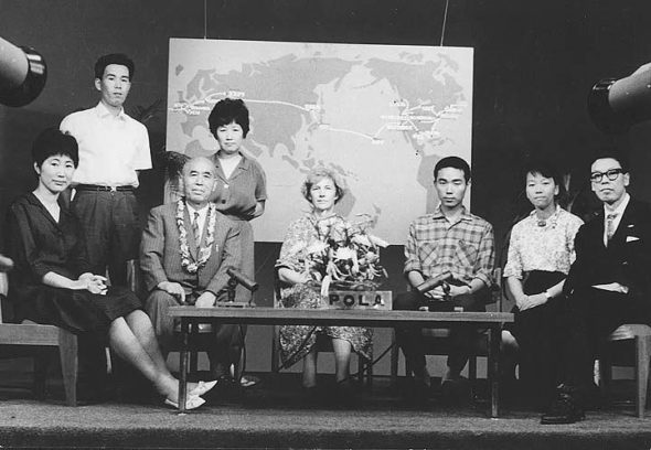 Former Yellow Springs resident and peace activist Barbara Reynolds is shown here in 1964 with some of the 24 survivors of the bombing of Hiroshima and Nagasaki who traveled with her in the World Peace Study Mission, aimed at educating nations about the dangers of the atomic bomb. The Peace Resource Center at Wilmington College is, with the help of a recent grant, beginning a project to digitally archive relevant documents to help educators more effectively research the effects of weapons of mass destruction. (Submitted photo)
