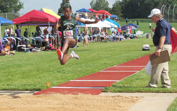 Malaya Booth competing at long jump. (Submitted photo)