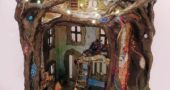 "Sharri Phillips mixed media piece, ""Fairy Dollhouse,"" was awarded the LeMiller People's Choice Award. (Submitted photo)"