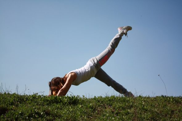 An outdoor yoga session will be offered at Antioch College.