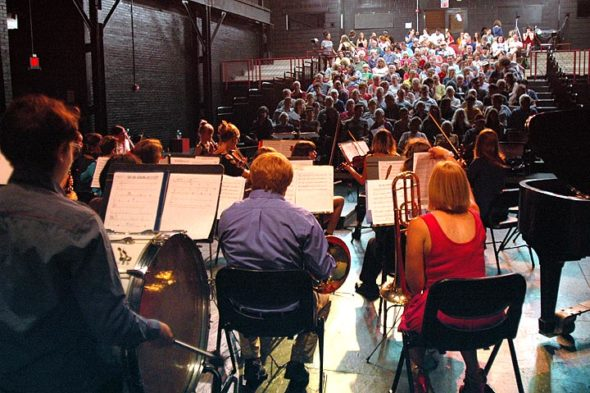 A capacity crowd turned out for the annual Friends Music Camp benefit concert for Glen Helen, which took place last Saturday, July 29, at the Foundry Theater. Both campers and camp staffers performed a varied program. (Photo by Matt Minde)
