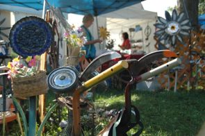 The 34th annual Art on the Lawn art fair will take place this Saturday, Aug. 12, from 10 a.m. to 5 p.m. on the grounds of Mills Lawn School, featuring a variety of artists from Yellow Springs, Ohio and surrounding states. Shown above is a scene from last year's Art on the Lawn. (News Archive photo by Isaac Delametre)