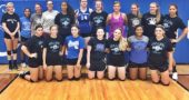 Alumnae volleyball players: pictured are, top row, from left: Tyler Linkhart, Julian Roberts, Emma Burns, Maya Hardman, Dede Cheetom, Alex Ronnebaum, Emma Ronnebaum, Tracy Clark, Meredith Rowe, Jessi Worsham and Nia Stewart. Bottom: Kelsie Lemons, Elle Peifer, Payden Kegley, Hannah Brown, Ellyson Kumbusky, Liz Smith and Raven James. (Submitted photo)