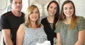 Brian and Eileen Petri of Springboro and their daughters Bridget and Allie recently opened The Blue Butterfly, a store offering home décor and items of personal comfort, at the former location of Urban Gypsy on Dayton Street. (Photo by Carol Simmons)