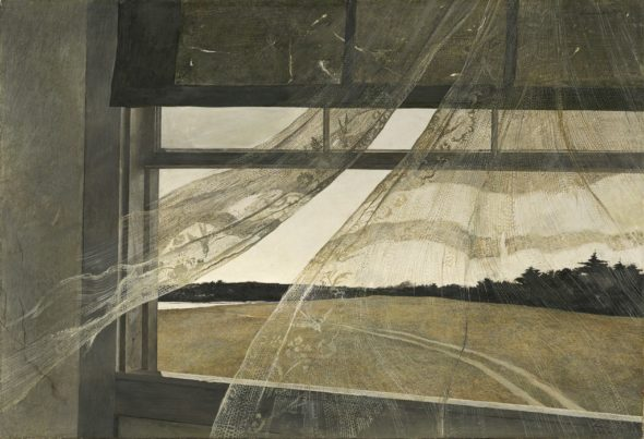 "Andrew Wyeth, ""Wind from the Sea,"" 1947. (Via Wikipedia)"