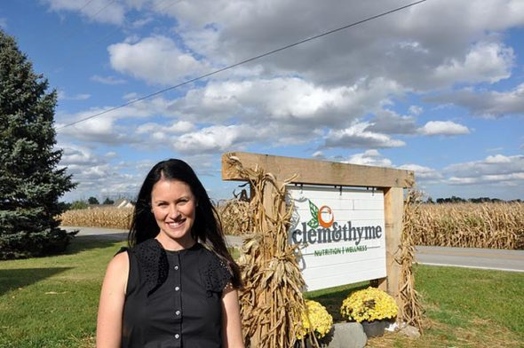 Leslie Edmunds just moved her business, Clem & Thyme, which focuses on health and wellness, to her father's farm on East Enon Road. (Photo by Christine Klinger)