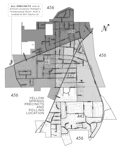 Precinct Map and polling location, 2017.