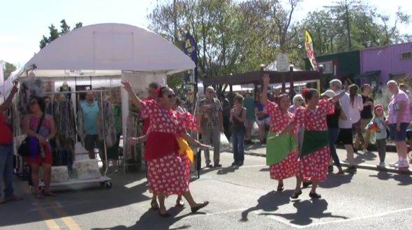 Dancers delighted Street Fair visitors on Corry Street on Saturday, Oct. 14.