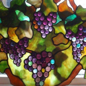 Kit Crawford, on Shawnee Drive, creates hand crafted art glass pieces.