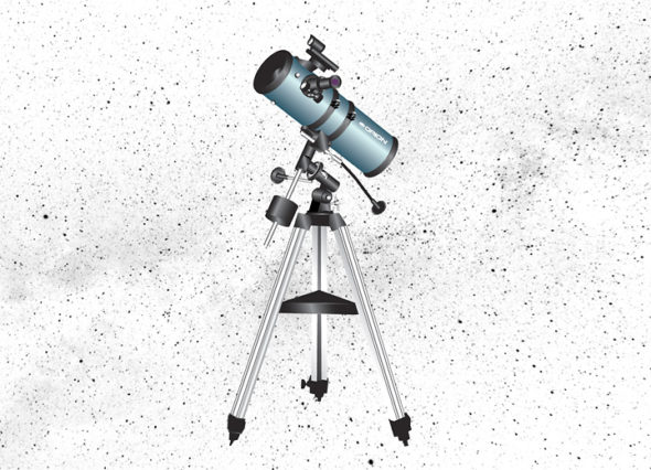 An Orion StarBlast 4.5 inch Astronomical Telescope may now be checked out with your library card from your local Greene County Library. (Illustration by Matt Minde)