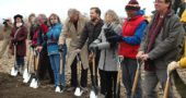 Last Thursday, Dec. 14, Village leaders assembled for the groundbreaking ceremony for Cresco Labs, which has begun construction on a new facility for the cultivation of medical marijuana. (Photo by Diane Chiddister)