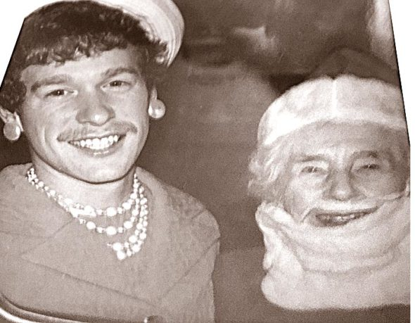 In the Denman family at the holiday season, one family member each year dressed up as Santa Claus, and the others dressed up as that person or something about that person's experience. This photo shows Matt Denman in 1988 dressed as his grandmother, who is, obviously, dressed as Santa. According to Donna Denman, one year the person playing Santa was a film student, so the rest of the family dressed as characters from a Bergman film. (Submitted photo)