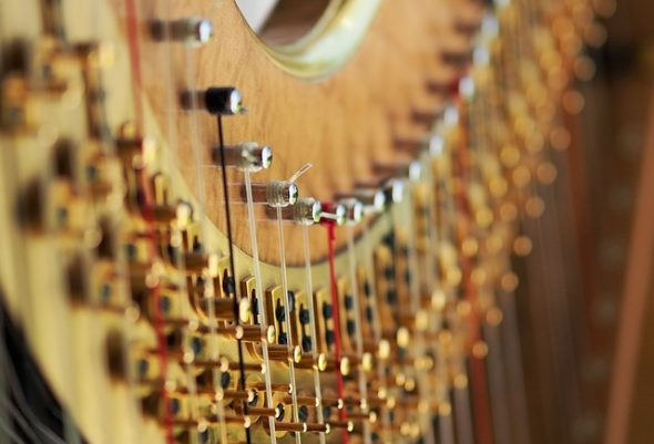 Cello and harp sounds will emanate from the Emporium on Saturday, Jan. 13.