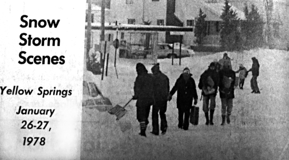The end of January marks 40 years since the worst snow storm in Yellow Springs — and Ohio — history.