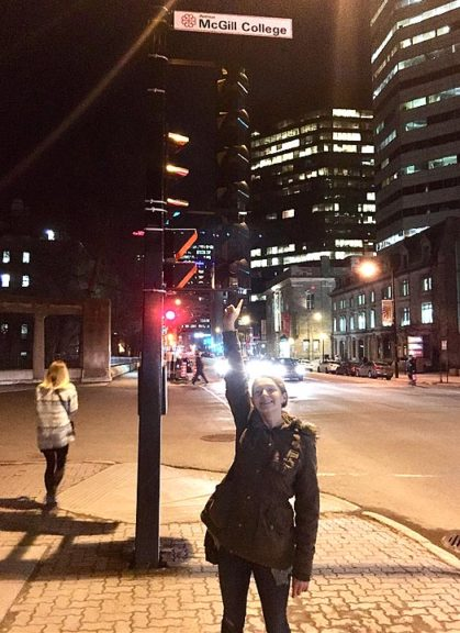 Meredith Rowe, a 2016 YSHS graduate, is enjoying big-city life at McGill University in Montreal. (Submitted photo)