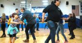 The 2018 McKinney Chili contest this year featured a side of square dancing. Swinging their partners above are, in foreground from left, Era Creepingbear and Matthew Collins, Shane Creepingbear with Tiger Collins (going 'round the outside). (Photos by Matt Minde)