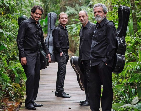 The Brazilian Guitar Quartet will perform Sunday, March 25, as part of the Chamber Music in Yellow Springs series. (Submitted photo)