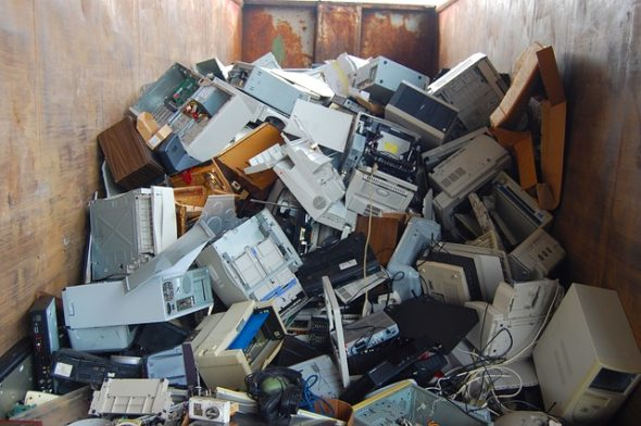Local resident Zeke Reichert will aid in recycling 'e-waste' through May 10.