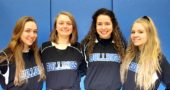 The 2018 YSHS softball team captains are, from left, Janine Stover, Jorie Sieck, Brielle Willis and Elly Kumbusky. (Submitted photo)