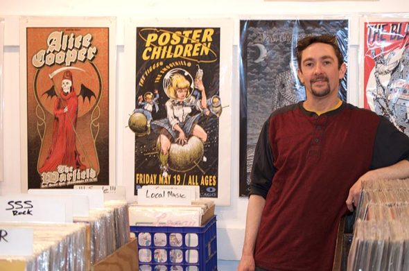 The third weekend of April brings with it Record Store Day, which Josh Castleberry, owner of Toxic Beauty Records, attributes with the exposure that put his store on the map. (Photo by Will Drewing)