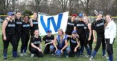 The members of the 2018 YSHS softball team after their first win of the season on April 13, back, from left: Zoe Lafferty, Kadie Lafferty, Sara Zendlovitz, Brielle Willis, Aaliyah High, Kelsie Lemons, Elly Kumbusky, Zay Crawford, Janine Stover; Front, from left: Hailey Burk, Gracie Price, Ashlyne Griffis, Beca Spencer. (Submitted photo by Jimmy DeLong)
