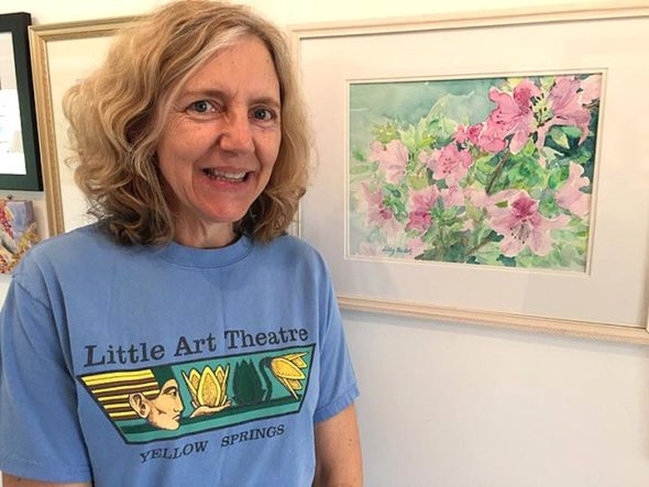 """I paint color and light in watercolors because it is a way to directly connect with the beauty surrounding us here in Ohio and in the world,"" says Libby Rudolf, whose paintings will be on display at the Winds from Tuesday, May 8, through the end of June. (Photo by Carla Steiger)"