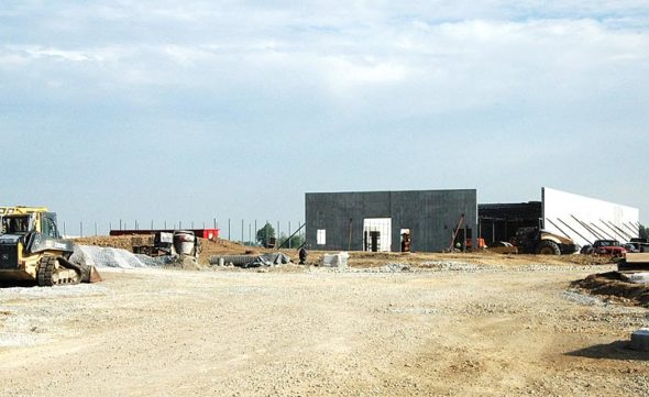 Cresco Labs is in the midst of constructing a 50,000-square-foot marijuana cultivation facility in the village. Construction is on schedule, although the company is waiting for the state to decide on a processing application so the company can also produce oils, tinctures, patches and edibles onsite. (Photo by Megan Bachman)