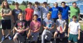 The Yellow Springs High School boys track team won second place at the recent Bulldog Invitational meet, held in Yellow Springs. Shown above are, left to right in the first row, Michael Vickers, Griffin Roberts, Ibi Chappelle, Raven Campbell and Jay Millman. In the second row are Gideon Nazari, Finn Bledsoe, Liam Hackett, Jakob Lara-Woodburn, Kaden Bryan, Zach Lugo, Mark Bricker and Harper Mesure. (Submitted photo by Coach John Gudgel)