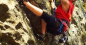 """Villager Jeff """"Pan"""" Reich has enjoyed rock climbing for 50 years, starting at John Bryan Park when he was 13. He and his wife, Jane Hockensmith-Reich, regularly climb at a downtown Dayton climbing gym and the Red River Gorge in Kentucky. (Submitted photo)"""