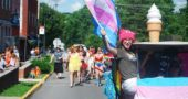 The village's LGBTQ comnunity and allies will celebrate YS Pride this Saturday, June 30, with a festival beginning at noon and continuing through the day until 5 p.m. in the parking lot of Peach's. The Pride Parade begins at 5 p.m. from Peach's parking lot, and continues downtown. Pictured above is Zay Crawford, a proud participant who led last year's parade. (News archive Photo By Aaron Zaremsky)