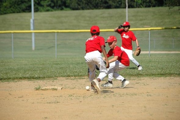 The final two YS Youth Baseball Minor League games were held Thursday evening, July 12 and Saturday morning, July 14. The Adoption Link Braves and the Sunrise Café Indians split the season's final two games. The regular season ends this weekend, followed by playoffs. (Photo by Robert Hasek)