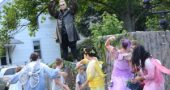 """Robert Campbell as the Fairy King Oberon commands his denizens in YSTC's production of Shakespeare's """"Midsummer Night's Dream."""" (Photo by Megan Bachman)"""