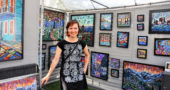 Anastasia Mak, this year's featured artist at Art on the Lawn, with her work. (Submitted photo)