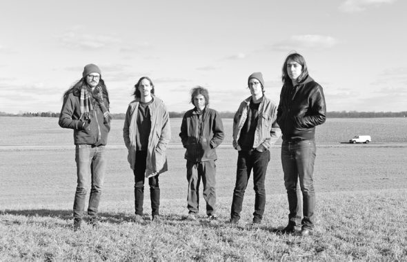 Yellow Springs-based pop-rock band Speaking Suns has been tapped to perform as part of Waynesville's Bellwether Festival this weekend. Speaking Suns' members are, from left: Dylan Sage, Jacob Diebold, Jay Teilhet, Rourke Papania and David Byrne. (submitted photo by Khalil Nasar)