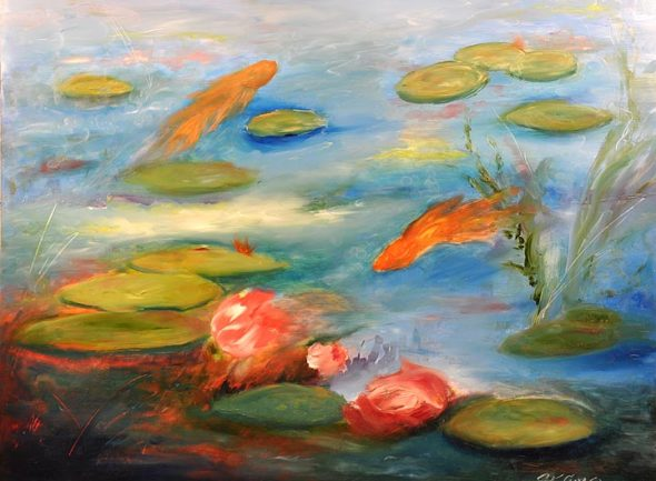 """""""Pond 2,"""" a recent work by Christine Klinger, showing now in full color at the YS Arts Council Gallery. (submitted photo)"""