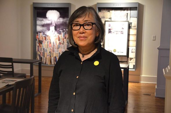 "Local artist Migiwa Orimo's work is exhibited in ""Nuclear Fallout: The Bomb in Three Archives,"" a new show at Antioch's Herndon gallery that opens Thursday, Sept. 20, from 7–9 p.m. with a talk by Orimo. (Photo by Megan Bachman)"