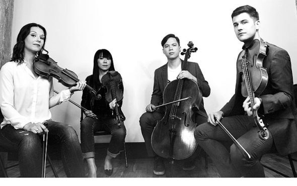 Attacca Quartet will present an all-Beethoven program on Sunday, Nov. 4, at 7:30 p.m., at the First Presbyterian Church, as the second installment of Chamber Music Yellow Springs' 2018–19 season.  (Submitted photo by Shervin Lainez)