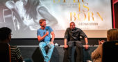 "Actor, director and co-writer Bradley Cooper and supporting actor Dave Chappelle sat on the front stage of the Little Art Theatre, to speak about and answer questions on Bradley's new release of ""A Star is Born"" (Submitted photo by Frédéric Yonnet)"
