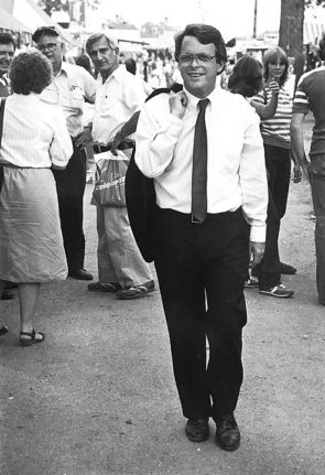 DeWine strolls through the Greene County Fair in 1982 during his first campaign for congress.