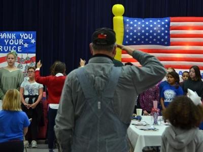 Mills Lawn School celebrates service
