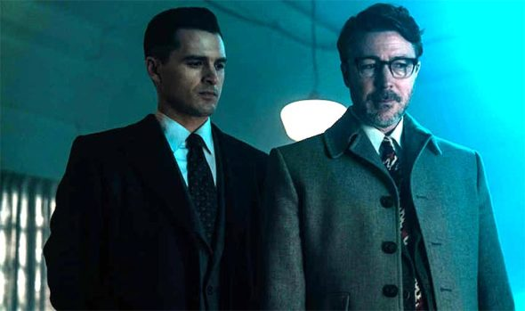 "Michael Malarkey, right, as Captain Michael Quinn in the new drama ""Project Blue Book,"" which premieres on Jan. 8 on the History Channel. (Photo courtesy of Ed Araquel/History Channel)"