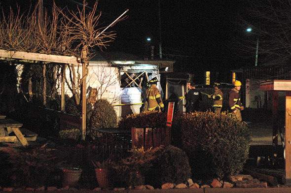 Local Indian food venue Aahar India burned Saturday evening. No one was injured. (Photo by Matt Minde)