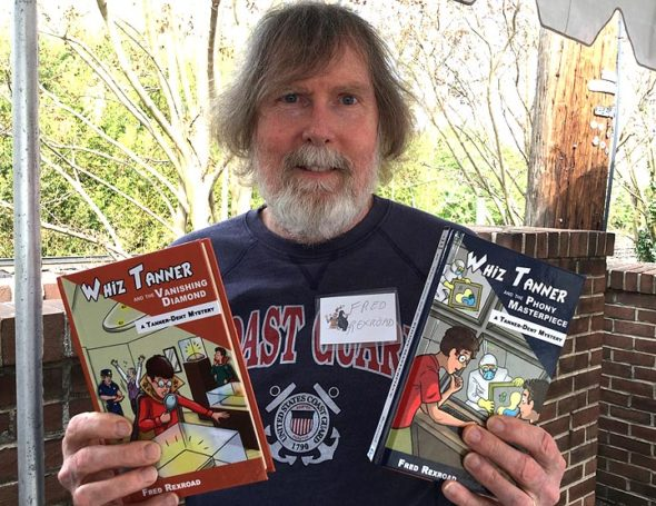 Author and former Yellow Springs resident Fred Rexroad wrote the Whiz Tanner mystery series for kids, which is set in the very Yellow Springs-like fictional town of Jasper Springs. (Submitted photo)